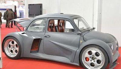 Fiat 500 con motore 6.2 V12 da 580 CV di una Lamborghini Murcielago