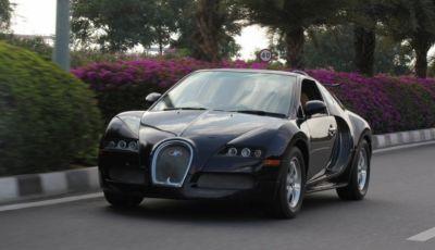 """Bugatti Veyron replica su base Suzuki Swift: """"supercar"""" da 85 CV"""