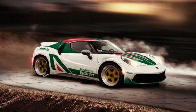 Lancia Stratos il rendering su base Alfa Romeo 4C