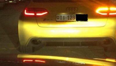 Audi Gialla carbonizzata a Treviso: i tre malviventi ancora in fuga