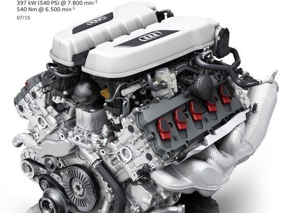 Audi R8 V10 plus motore