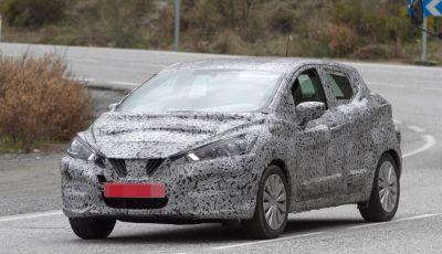Nissan Micra, prime foto spia della quinta generazione