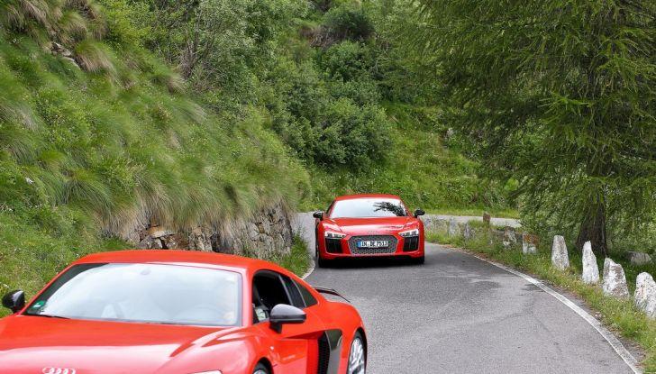 r8 audi coupé prova su strada