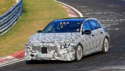 Mercedes Classe A nuove foto spia dal circuito del Nurburgring