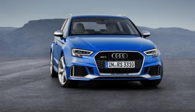 Nuova Audi RS3 Sportback: il 5 cilindri di serie più potente al mondo