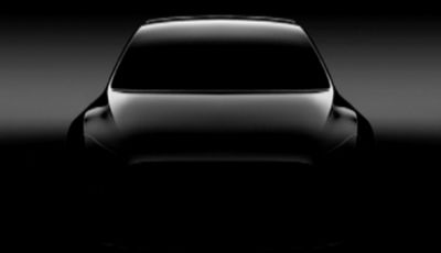 Tesla Model Y, rendering del crossover compatto elettrico