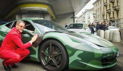 La Ferrari 458 Italia Army di Lapo Elkann battuta all'asta