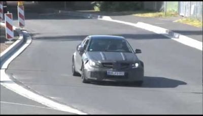 Mercedes C63 AMG Coupé Black Series spy video