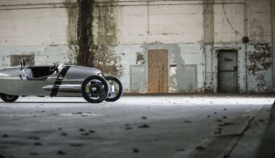 Morgan EV3, l'evoluzione della celebre 3-Wheleer avrà tre ruote e una batteria