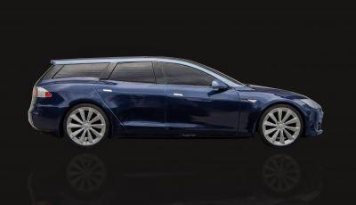 La prima Tesla Model S Station Wagon è dedicata a un barbone