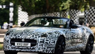 Jaguar F-Type: video del giro di pista al Goodwood Festival of Speed 2012