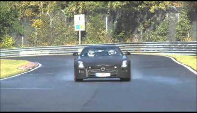 Mercedes SLS AMG BlackSeries video spia al Nurburgring