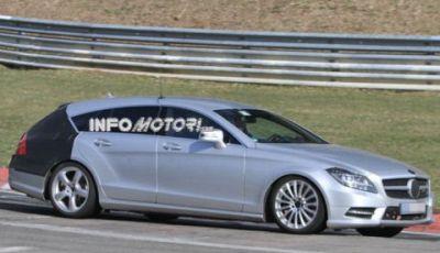 Mercedes CLS Station Wagon video spia al Nurburgring