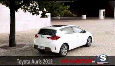 Nuova Toyota Auris 2013  test drive a Lisbona