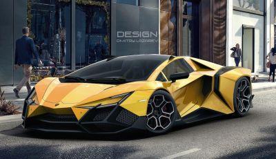 Lamborghini Forsennato, stile estremo per l'ultimo rendering del Toro