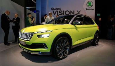 Skoda Vision X Concept: l'auto elettrica, a metano e a benzina