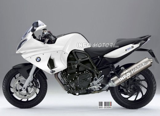 BMW S 900: il rendering di Infomotori - Foto 3 di 7