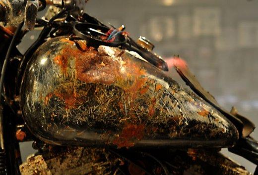 La Harley-Davidson sopravvissuta allo tsunami esposta al museo di Milwaukee - Foto 4 di 7