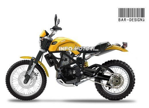 Ducati Scrambler: il rendering di Infomotori