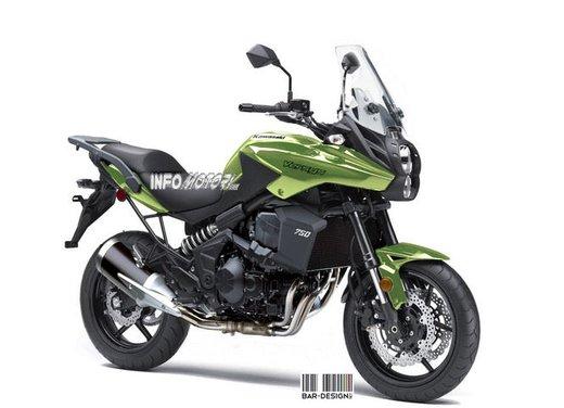 Kawasaki Versys 750: il rendering di Infomotori - Foto 3 di 6