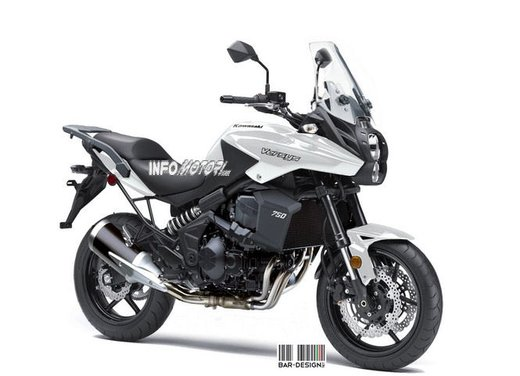 Kawasaki Versys 750: il rendering di Infomotori - Foto 5 di 6