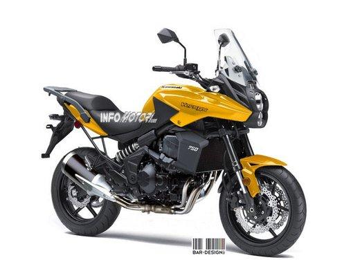 Kawasaki Versys 750: il rendering di Infomotori - Foto 6 di 6