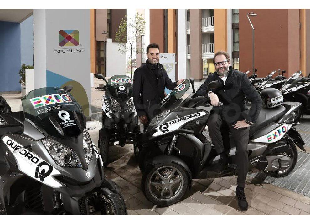 Expo Milano 2015: Quadro è fornitore ufficiale di scooter a tre ruote