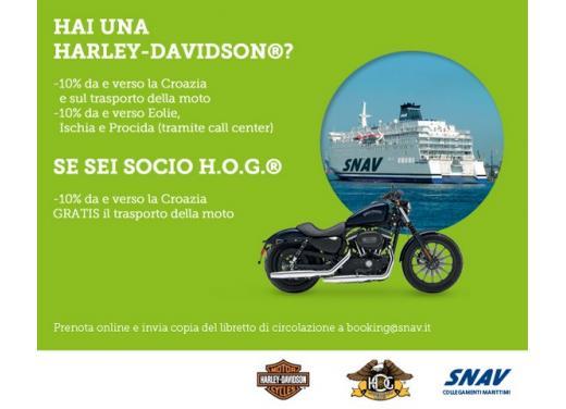 Harley-Davidson Italia e SNAV, accordo per navigare a prezzi scontati con la propria Harley - Foto 2 di 5