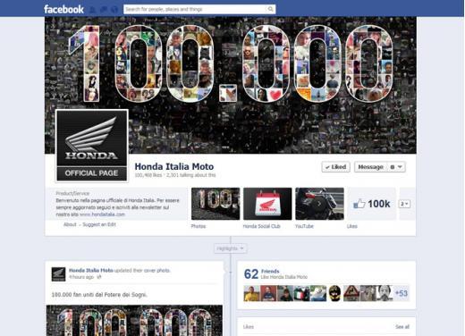 Honda Italia moto raggiunge i 100.000 fan su Facebook - Foto 1 di 4