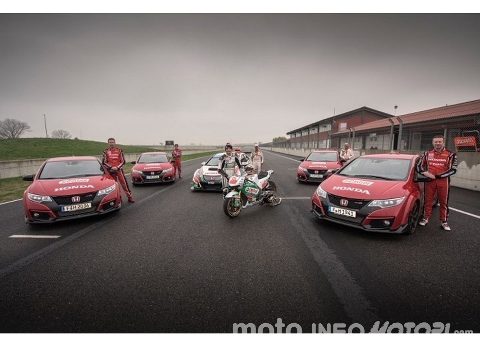 Honda: MotoGP VS Civic Type R, incredibile video a 360°