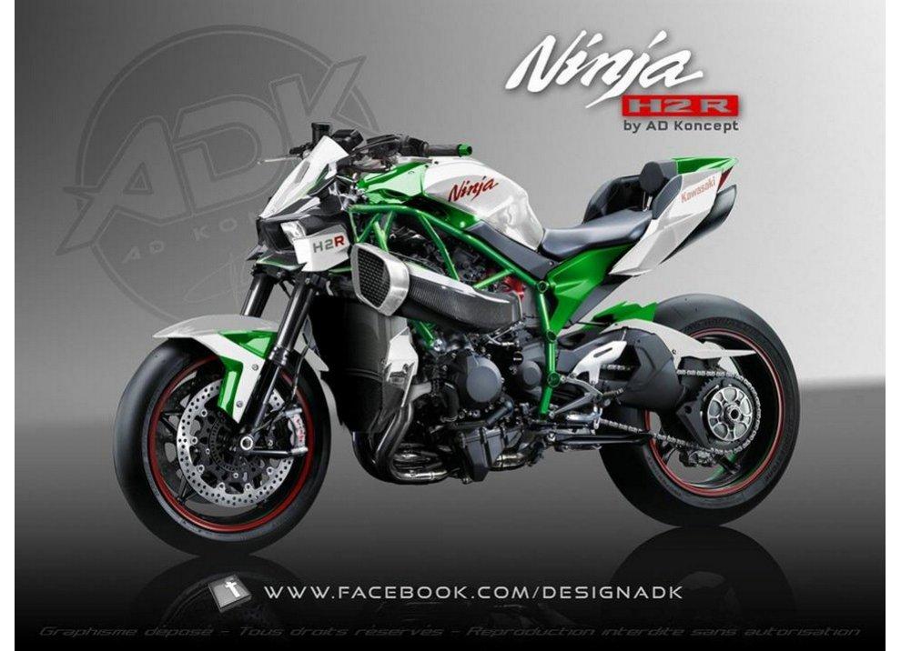 Kawasaki Ninja H2R Streetfighter by AD Koncept
