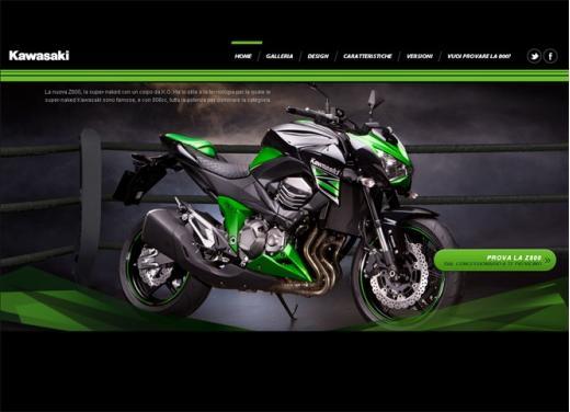 Kawasaki Z800: online il sito dedicato alla naked sportiva - Foto 1 di 5