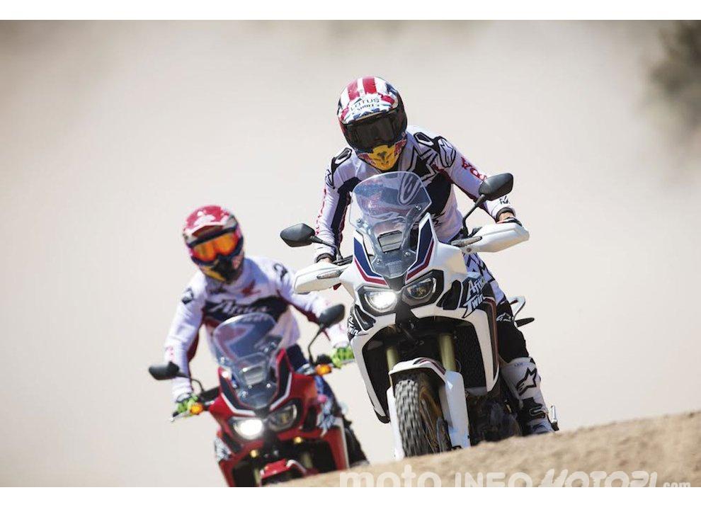 Marc Marquez e Joan Barreda sulla nuova Honda CRF 1000L Africa Twin, video