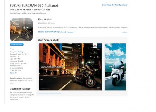 Suzuki Burgman 650 esordisce sull'Apple Store - Foto 1 di 5