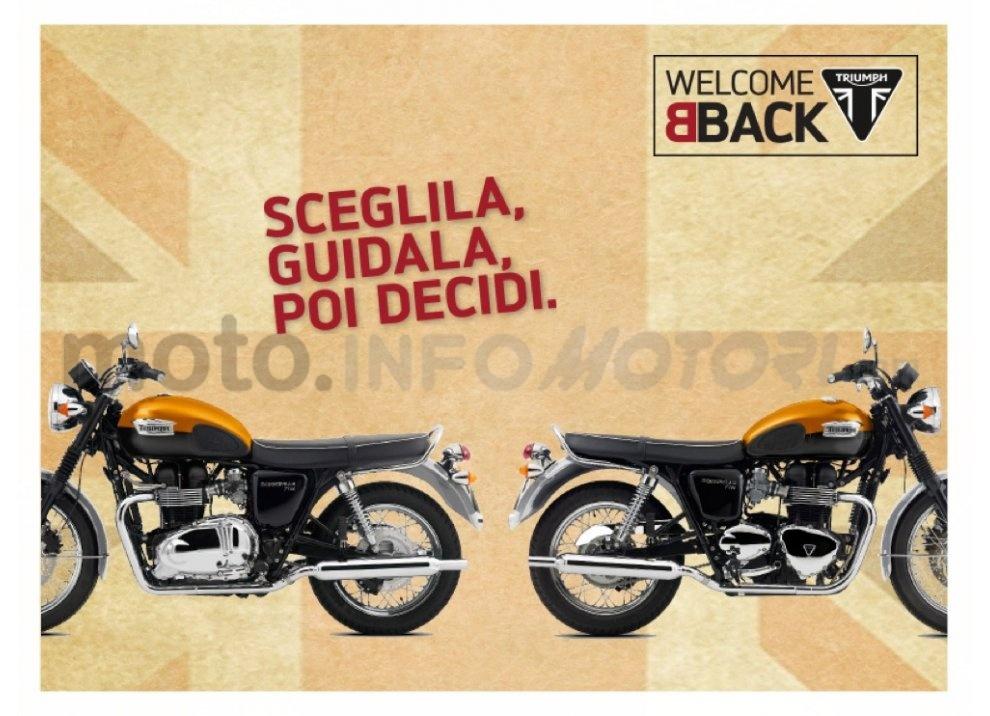 Triumph presenta WelcomeBack, un offerta per Bonneville T100 e T100 Black