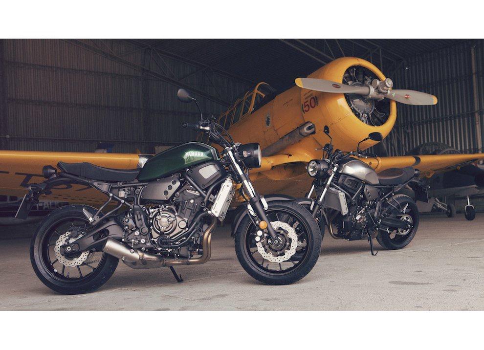 Yamaha XSR700 2016, I tre diapason sfidano Ducati