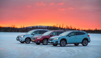 Gamma Subaru provata su strada e neve in Finlandia