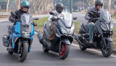 Comparativa scooter 400: Suzuki Burgman, Yamaha XMAX e BMW C400X