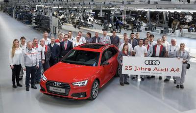 Audi A4 compie 25 anni: auguri all'Audi più venduta al mondo
