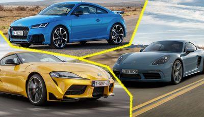 Prova comparativa tra Toyota Supra, Porsche Cayman S e Audi TT RS