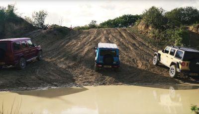 [VIDEO] La sfida Offroad tra Jimny, Classe G Wrangler
