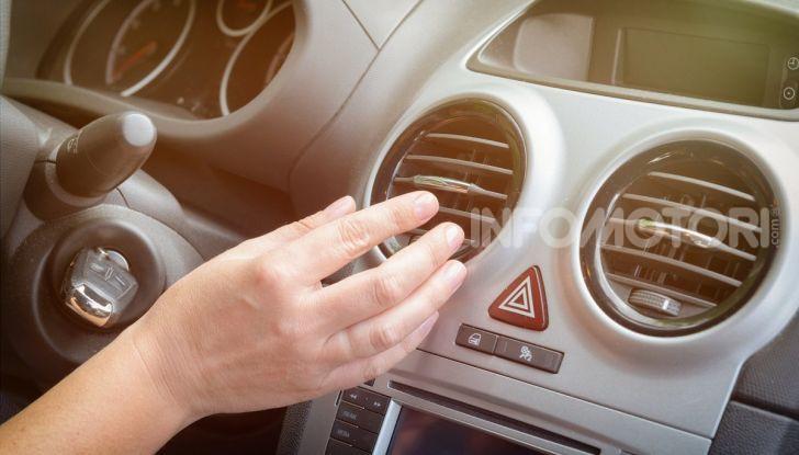 Riscaldamento auto bocchette aria