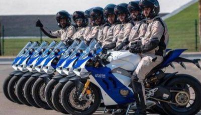 La Ducati Panigale V4R in dotazione alla polizia Abu Dhabi