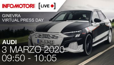 [LIVE] La nuova Audi A3 Sportback e le altre novità del Quattro Anelli a Ginevra