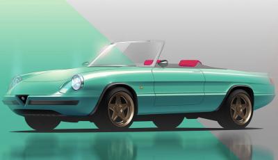 Alfa Romeo Duetto Icon-e, la spider elettrica di Garage Italia