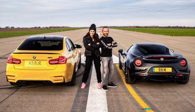 Alfa Romeo 4C vs BMW M3: chi vince la drag race?