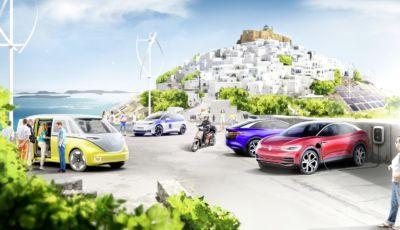 L'isola di Stampalia modello Volkswagen per la mobilità elettrica