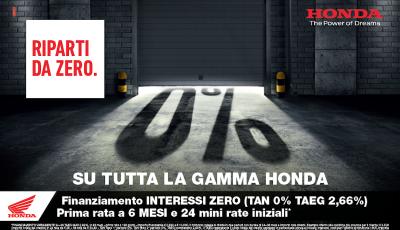Honda suona la carica per la ripartenza: tanti vantaggi su tutta la gamma