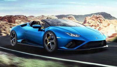 Lamborghini Huracàn EVO RWD Spyder 2020: a 324 km/h con il vento tra i capelli
