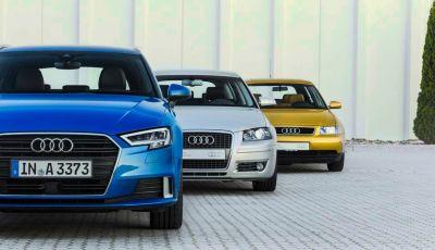 Audi A3: quattro generazioni di successi dal 1996